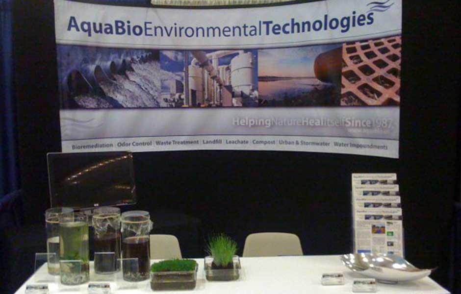 AquaBio Wastecon 2009 vendor booth.